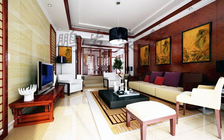 首創溪堤郡-一居室-198平米-客廳裝修效果圖; 一居室-198㎡-客廳裝修