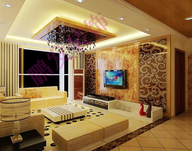 3d艺术漆欧式豪华客厅案例